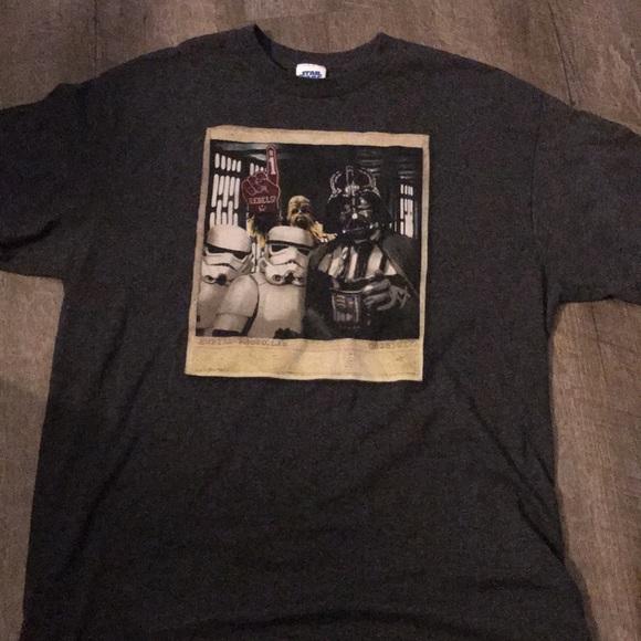 Large Star Wars Vader storm trooper gag t shirt